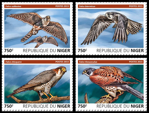 Hawks – set - Issue of Niger postage stamps