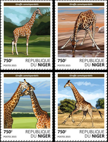 Giraffes – set - Issue of Niger postage stamps
