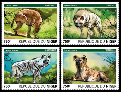 Hyenas - set - Issue of Niger postage stamps