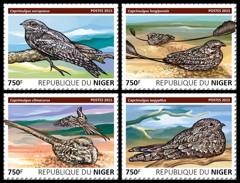 Birds – set - Issue of Niger postage stamps