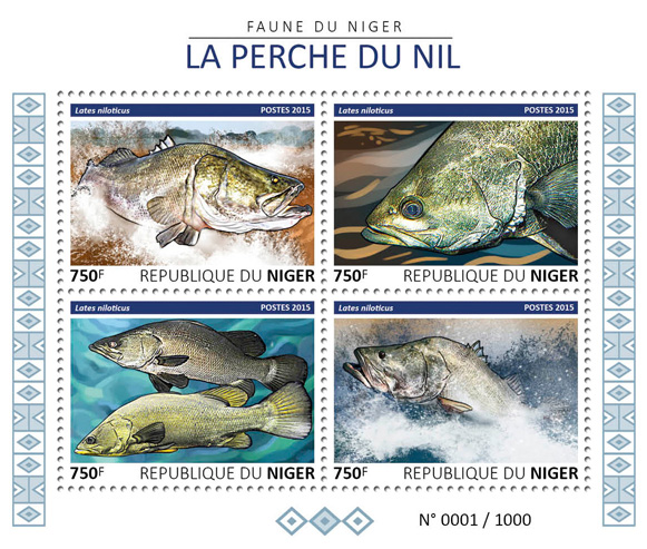 Fish - Issue of Niger postage stamps