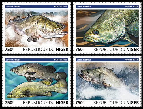 Fish – set - Issue of Niger postage stamps