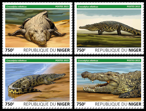 Crocodile – set - Issue of Niger postage stamps