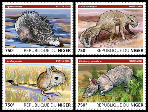 Rodents – set - Issue of Niger postage stamps