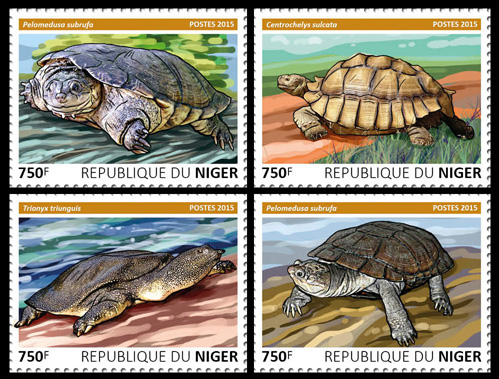 Turtles – set - Issue of Niger postage stamps
