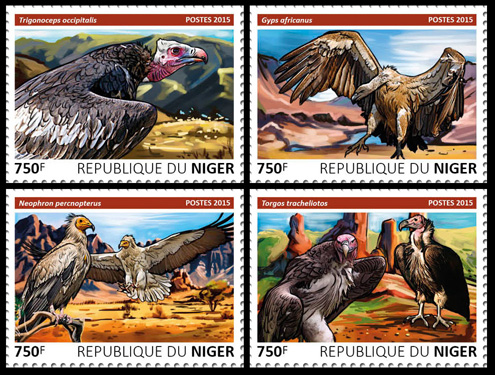 Vultures – set - Issue of Niger postage stamps