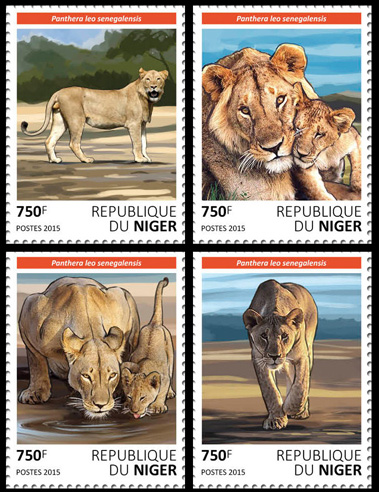 Lions – set - Issue of Niger postage stamps