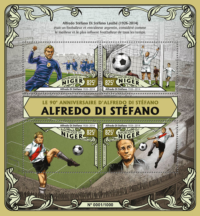 Alfredo di Stefano - Issue of Niger postage stamps