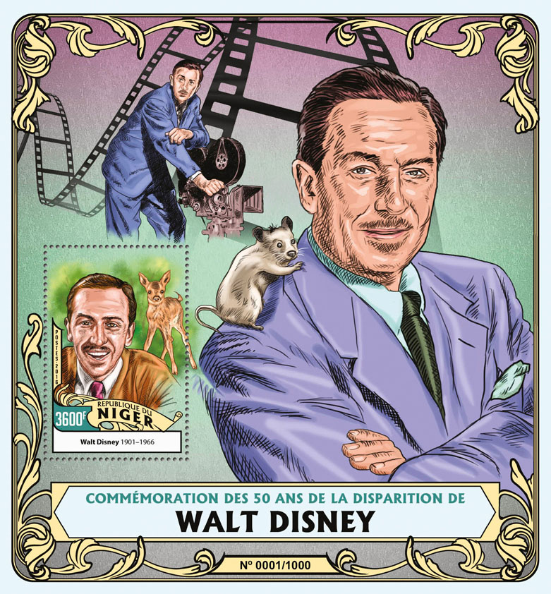 Walt Disney - Issue of Niger postage stamps