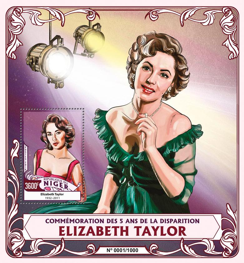 Elizabeth Taylor - Issue of Niger postage stamps