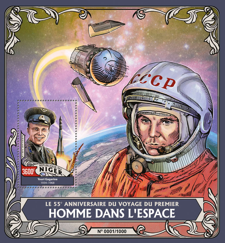 Space - Issue of Niger postage stamps