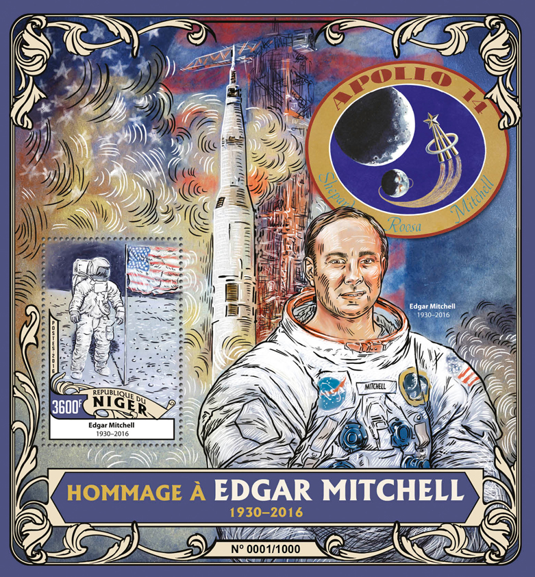 Edgar Mitchell - Issue of Niger postage stamps