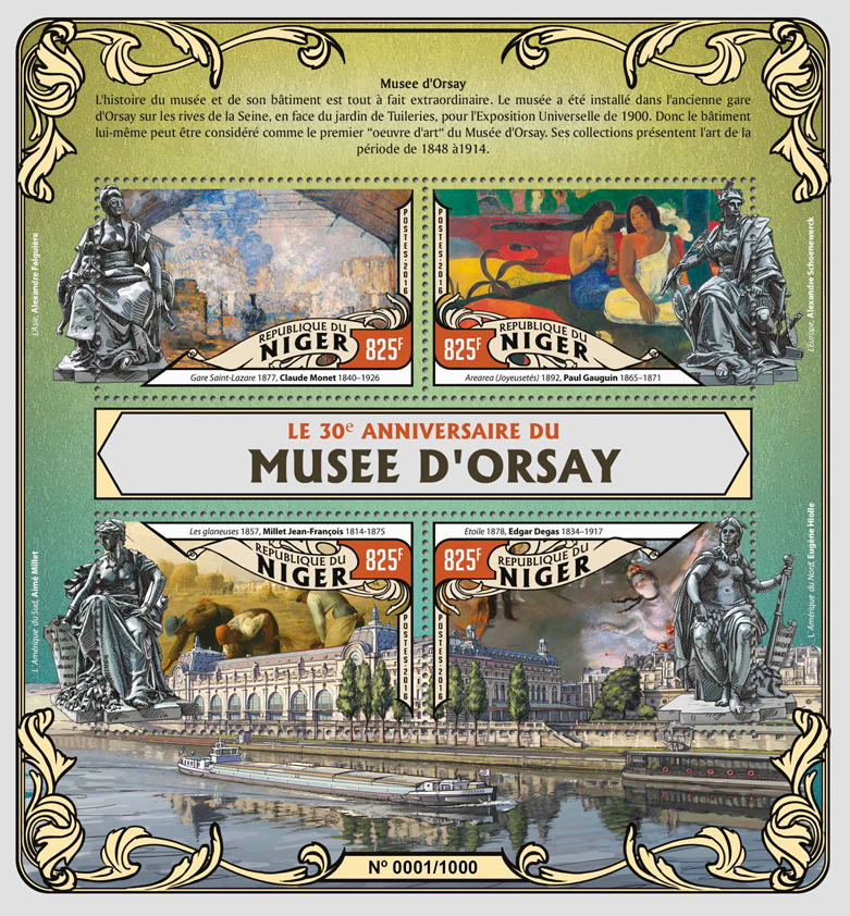 Orsay museum - Issue of Niger postage stamps