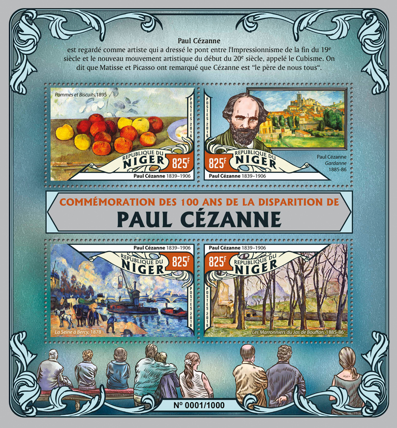 Paul Cezanne - Issue of Niger postage stamps