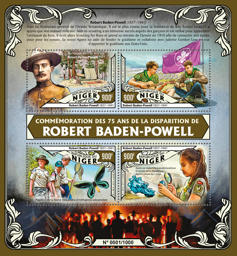Robert Baden-Powell - Issue of Niger postage stamps