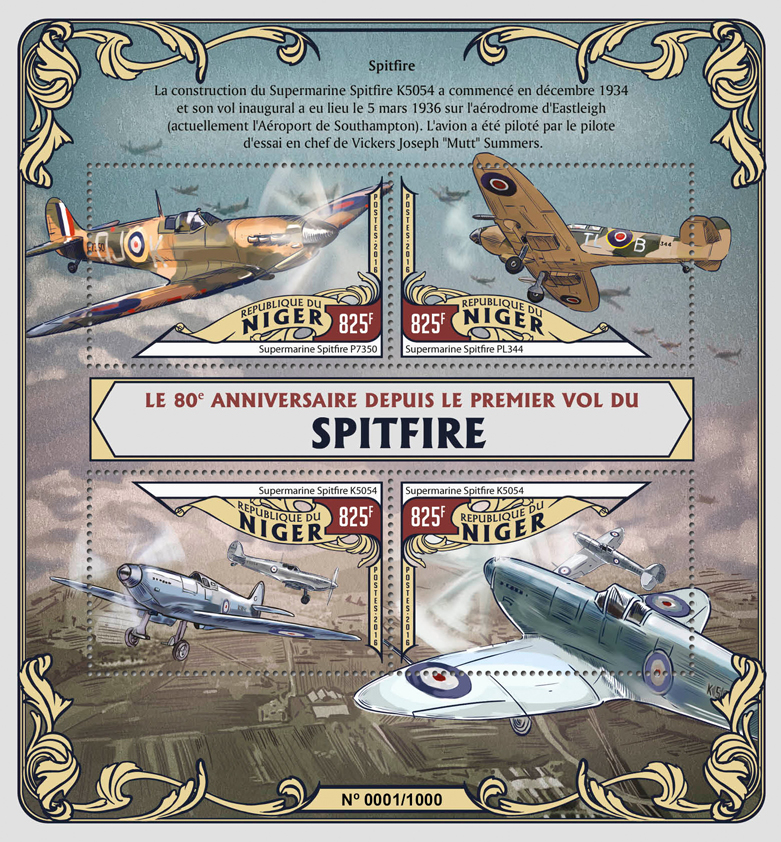 Planes - Issue of Niger postage stamps