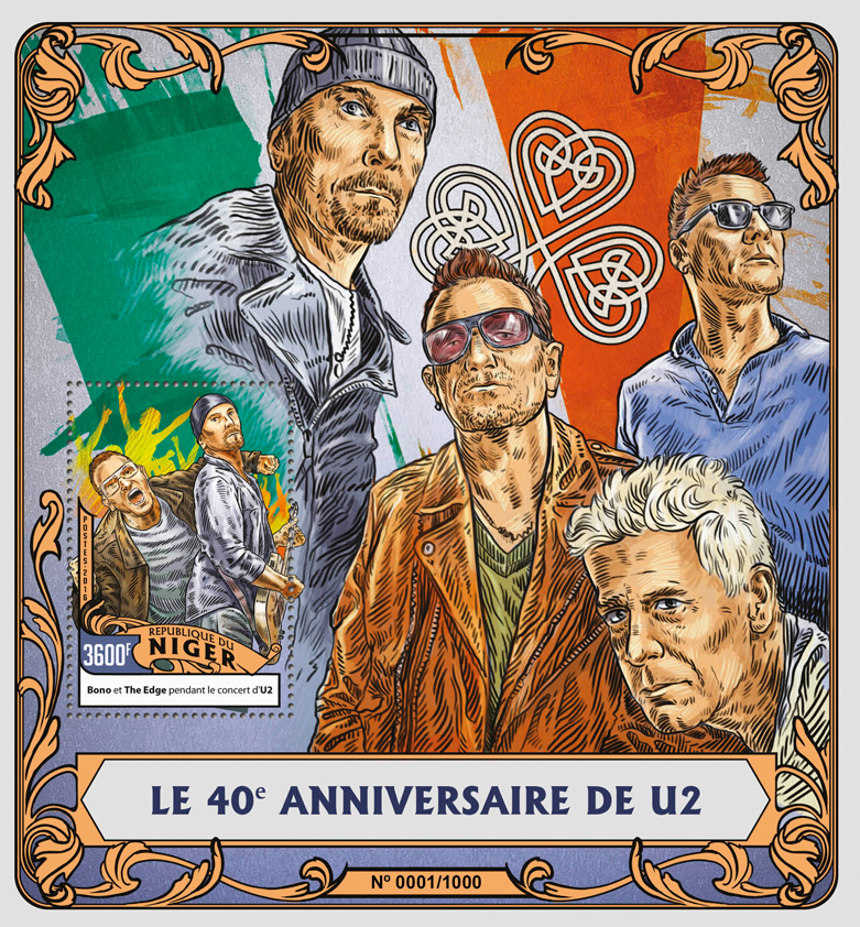 U2 - Issue of Niger postage stamps