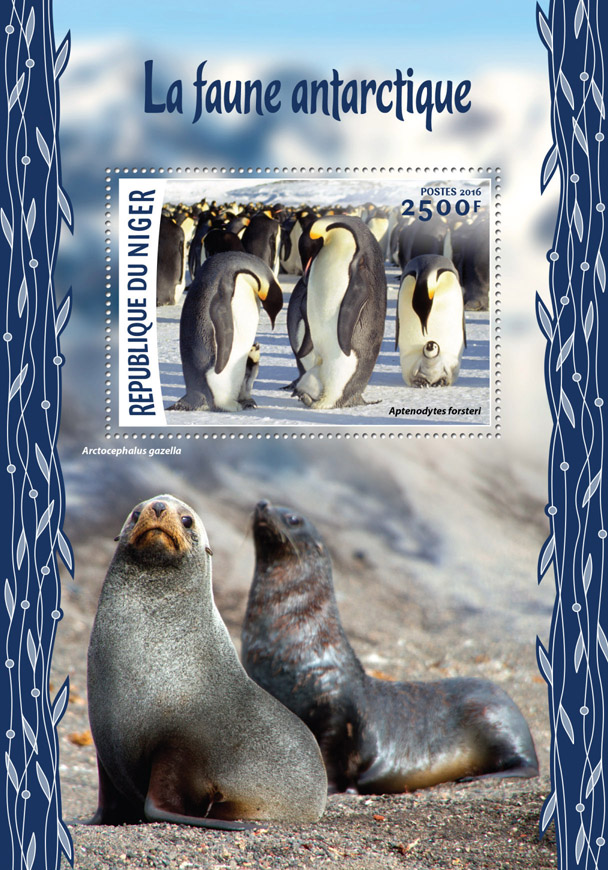 Antarctic wildlife - Issue of Niger postage stamps