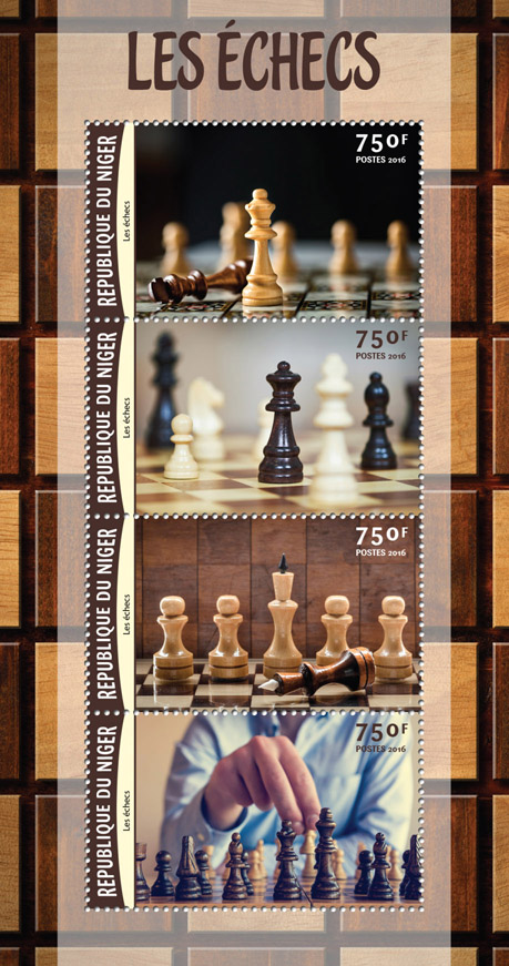 Chess - Issue of Niger postage stamps