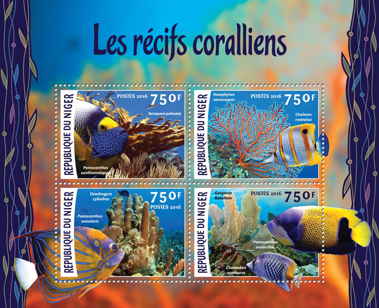 Corals - Issue of Niger postage stamps