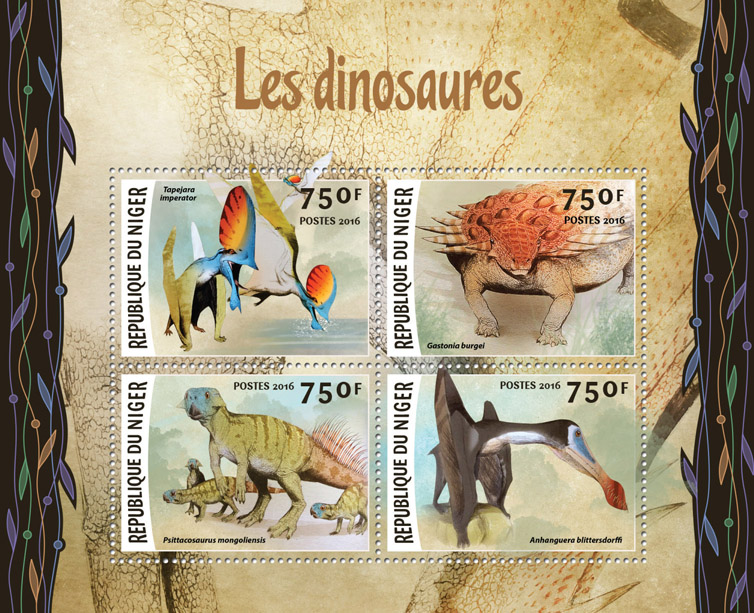 Dinosaurs - Issue of Niger postage stamps