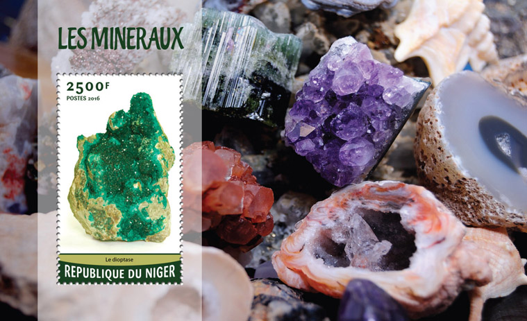 Minerals - Issue of Niger postage stamps
