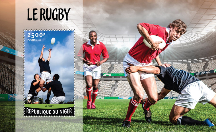 Rugby - Issue of Niger postage stamps