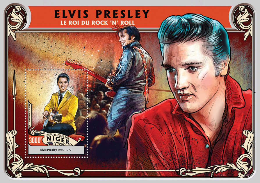 Elvis Presley - Issue of Niger postage stamps