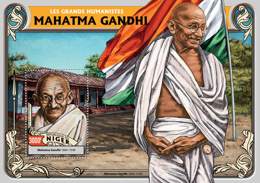 Mahatma Gandhi - Issue of Niger postage stamps