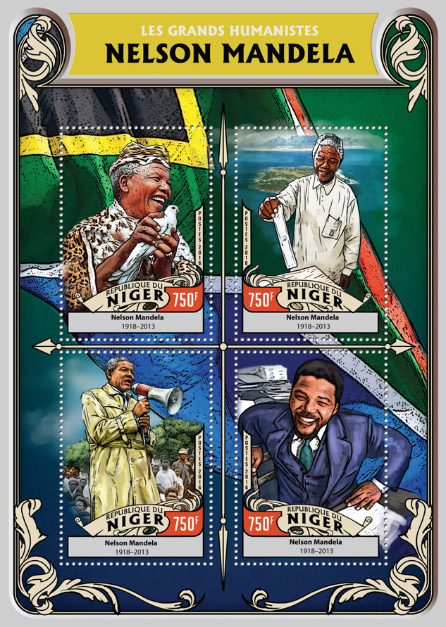 Nelson Mandela - Issue of Niger postage stamps