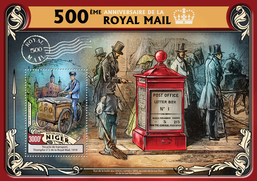 Royal Mail - Issue of Niger postage stamps