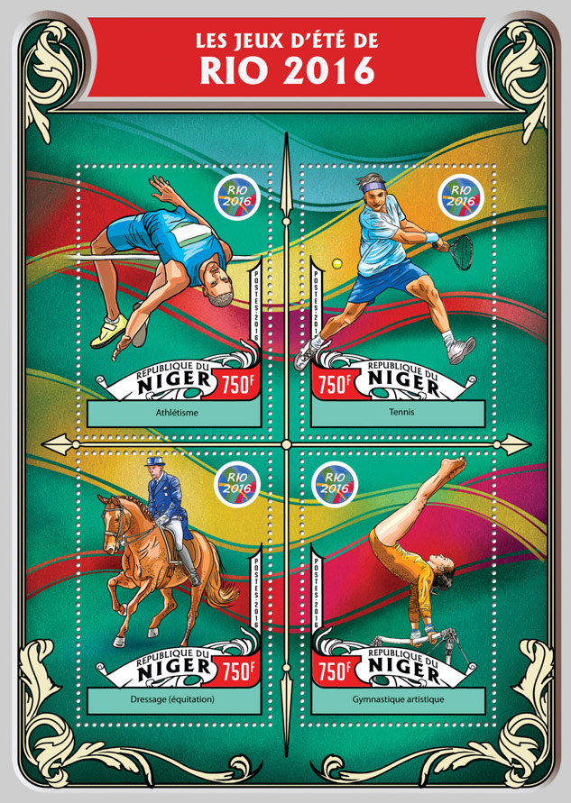 Rio 2016 - Issue of Niger postage stamps