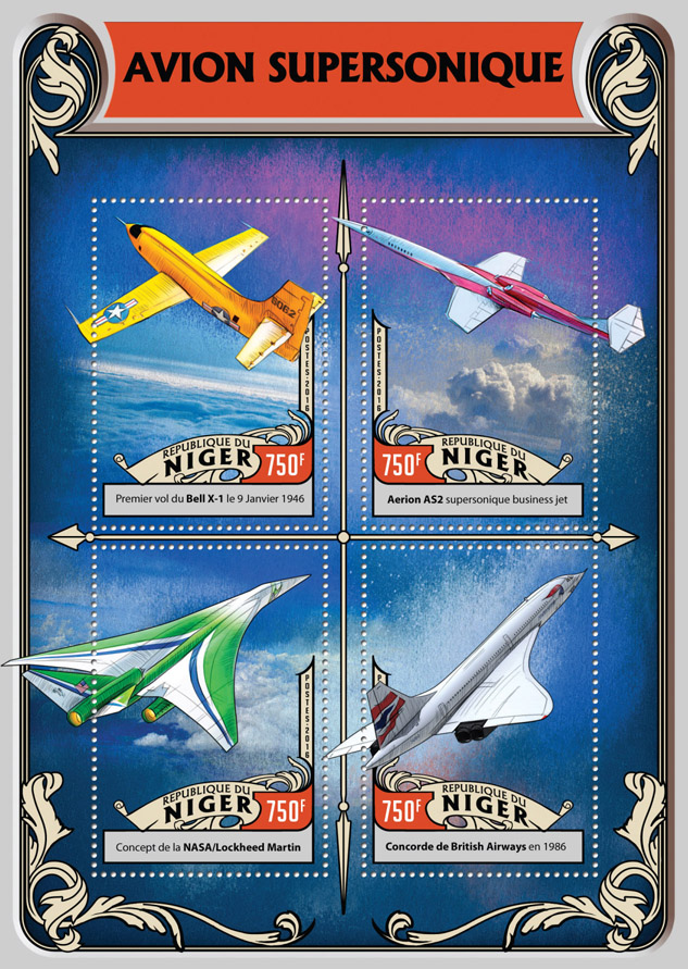 British Aerospace - Issue of Niger postage stamps