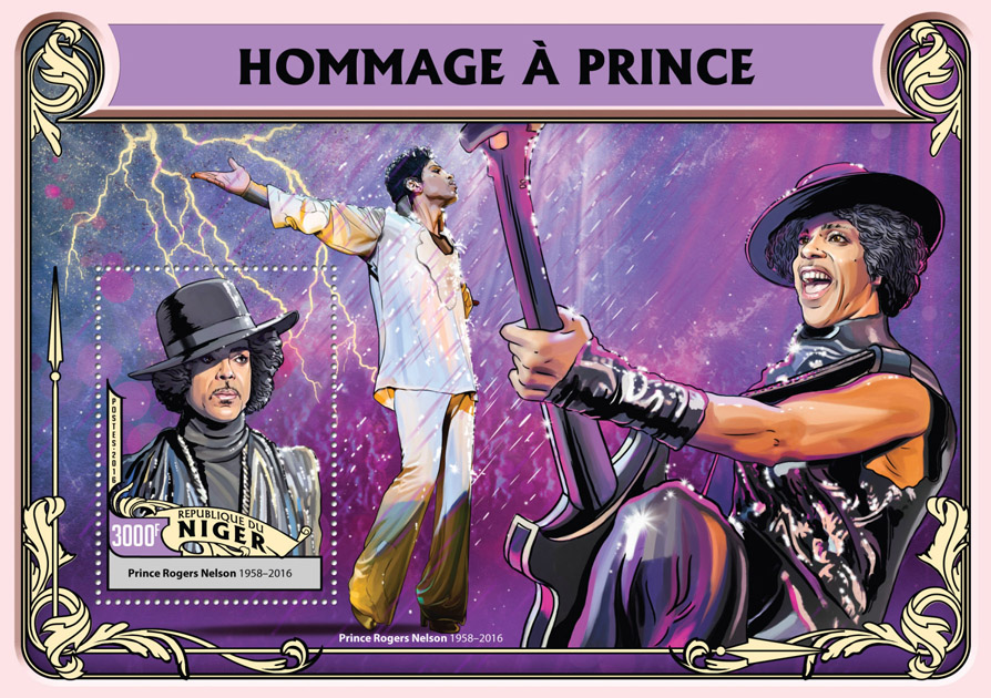 Tribute to Prince - Issue of Niger postage stamps