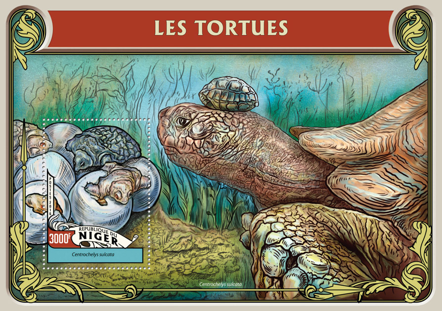 Turtles - Issue of Niger postage stamps