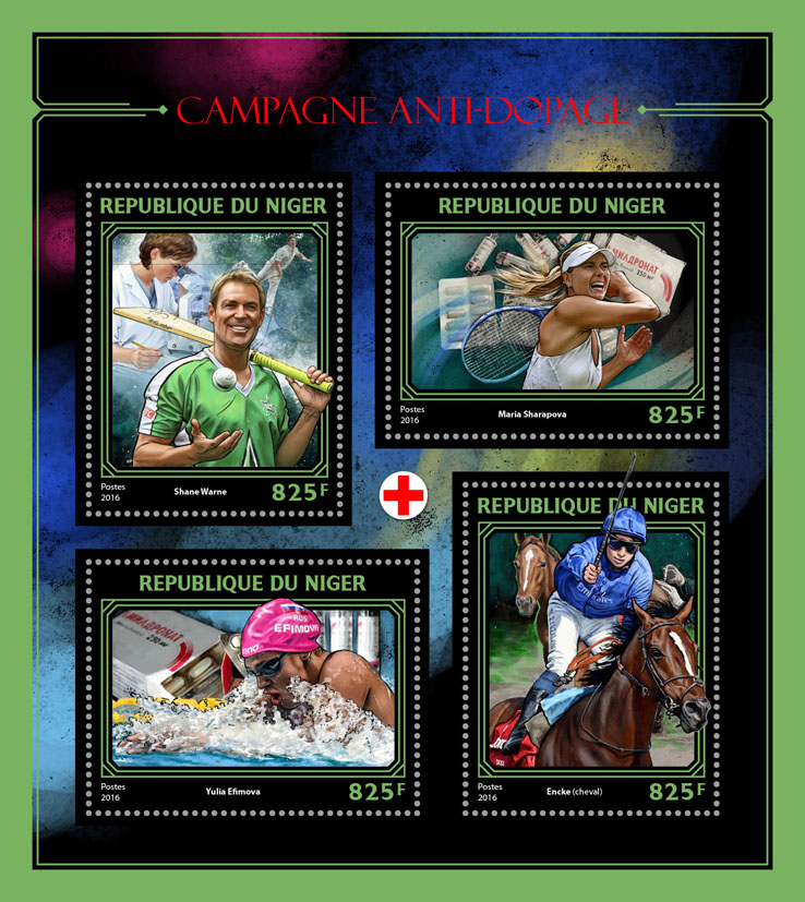 Anti-doping campaign - Issue of Niger postage stamps
