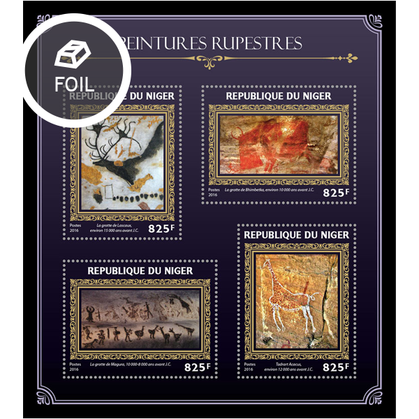 Cave paintings - Issue of Niger postage stamps