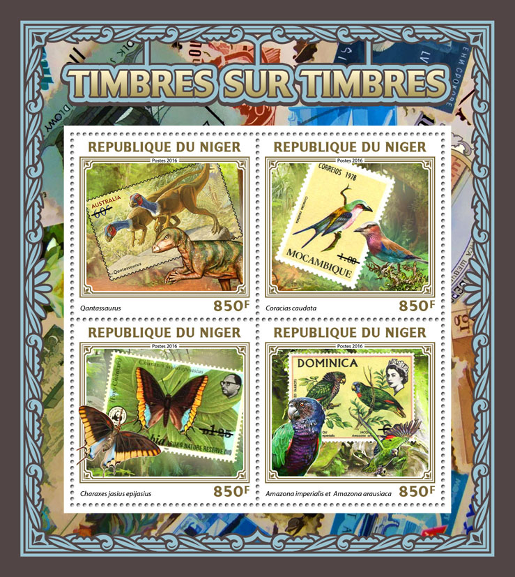 Stamps on stamps - Issue of Niger postage stamps
