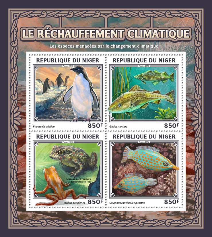 Global warming - Issue of Niger postage stamps