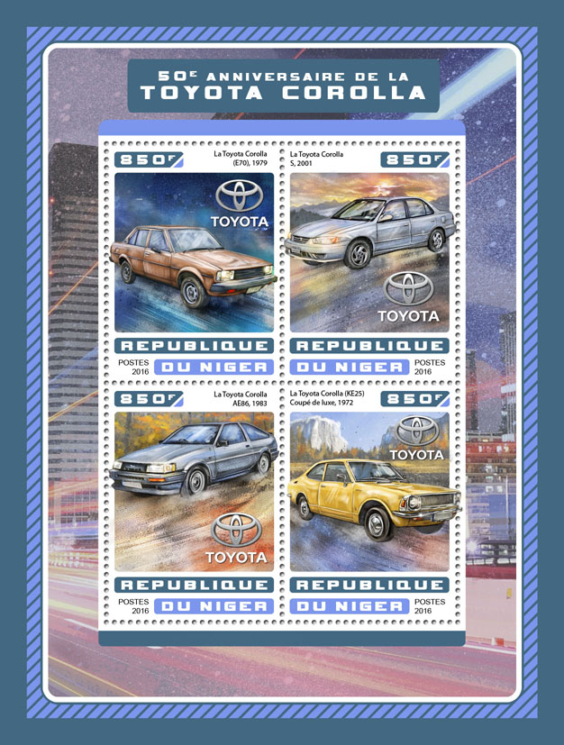 Toyota Corolla - Issue of Niger postage stamps