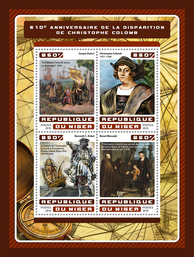 Christopher Columbus - Issue of Niger postage stamps