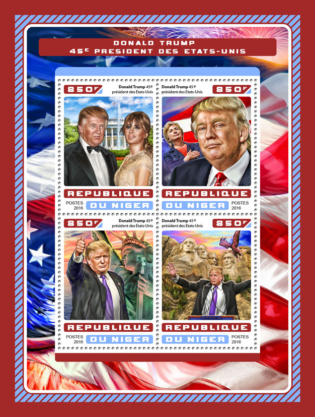 Donald Trump - Issue of Niger postage stamps