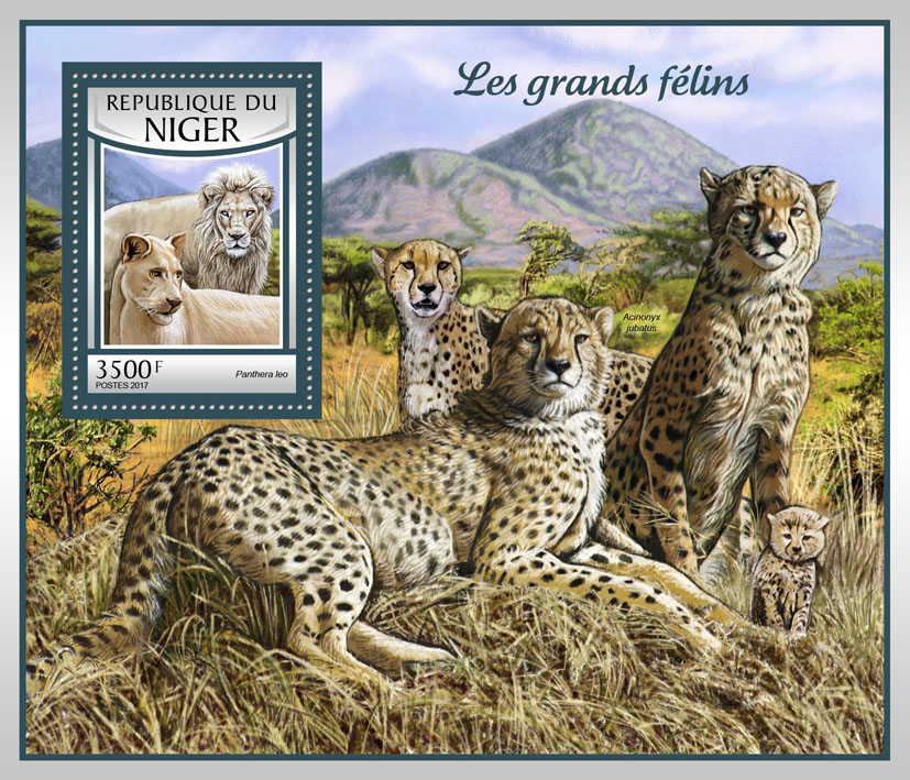 Big cats - Issue of Niger postage stamps