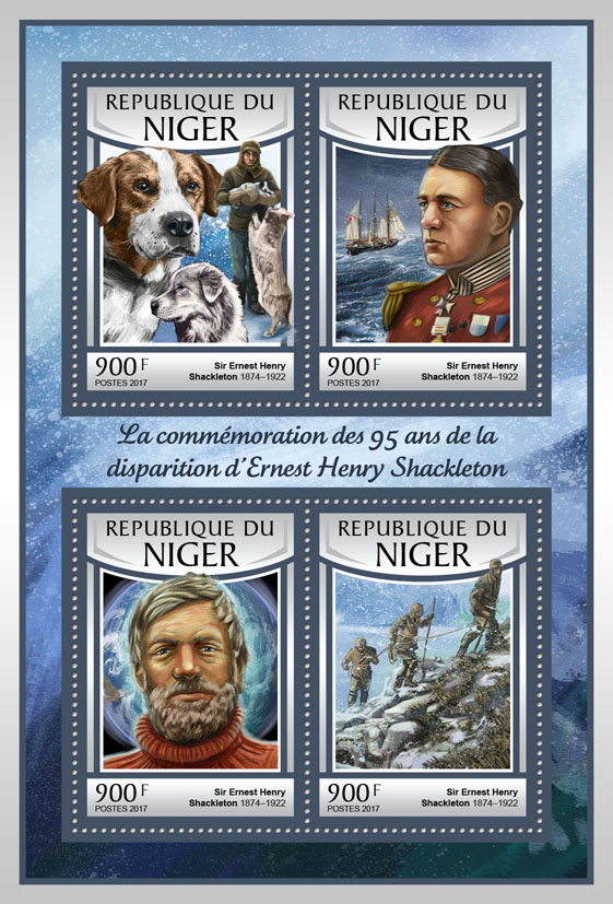 Ernest Henry Shackleton - Issue of Niger postage stamps