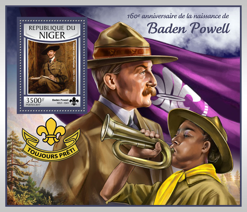 Baden Powell - Issue of Niger postage stamps