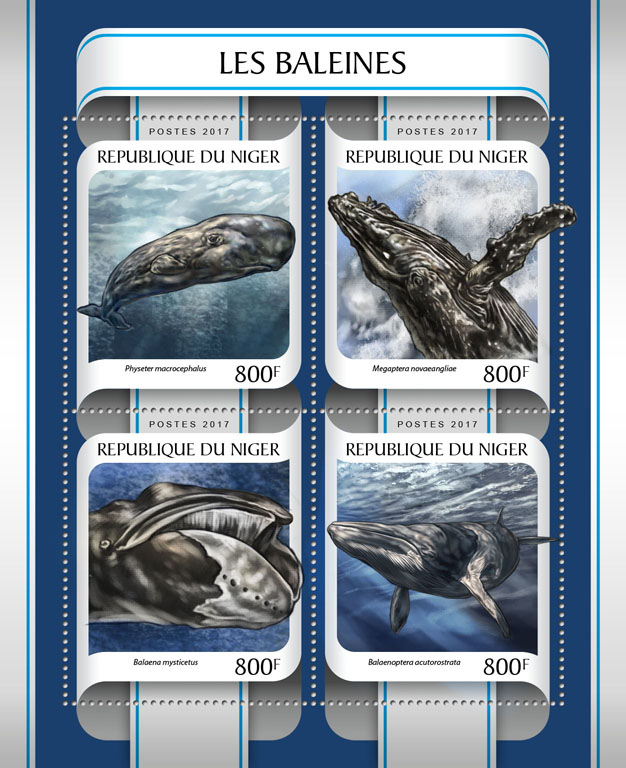 Whales - Issue of Niger postage stamps
