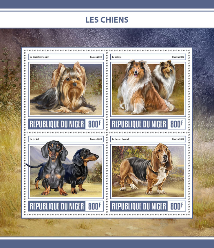 Dogs - Issue of Niger postage stamps