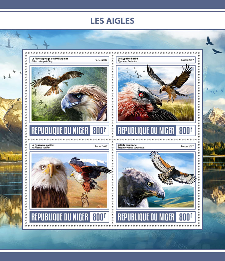 Eagles - Issue of Niger postage stamps