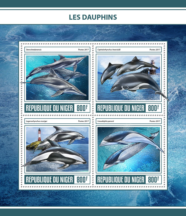 Dolphins - Issue of Niger postage stamps