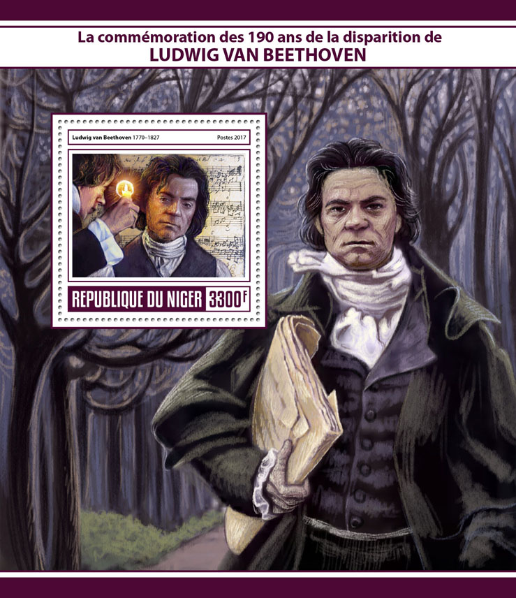 Ludwig van Beethoven - Issue of Niger postage stamps